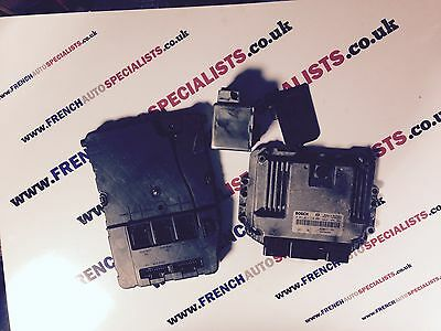RENAULT SCENIC  MEGANE II 19 DCI 130 ECU SET BSI UCH KIT STEERING LOCK KEY