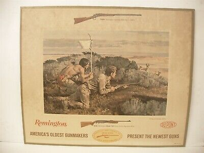 Original Remington 1816-1916 Americas oldest gun makers Advertising display Sign