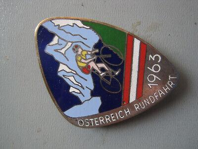 L830: Steyr Daimler Puch Österreich Radrundfahrt 1963 Emaille Abzeichen SELTEN