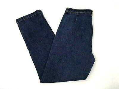 Jones New York Womens Straight Jeans Size 8 Dark Blue Wash High Rise