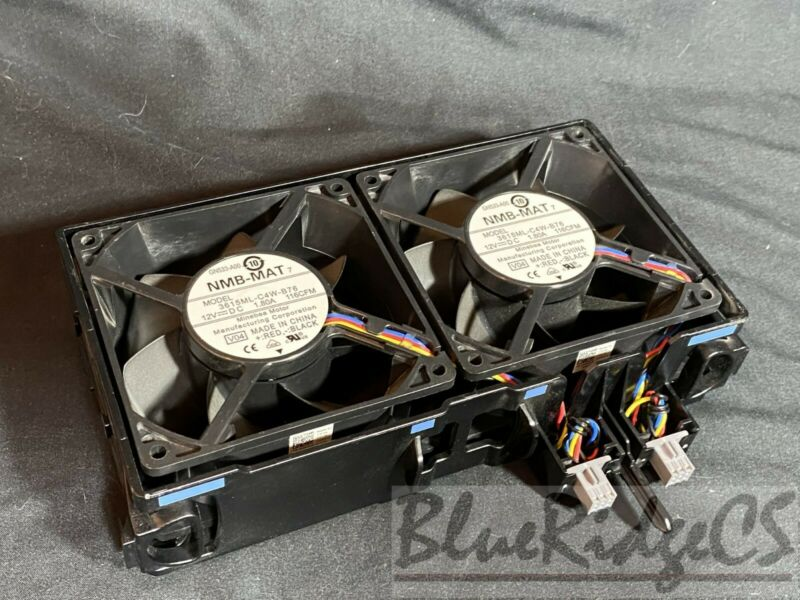 Dell PowerEdge T610 Dual Case Cooling Fan 0GY676 GY676 Used Running Pulls