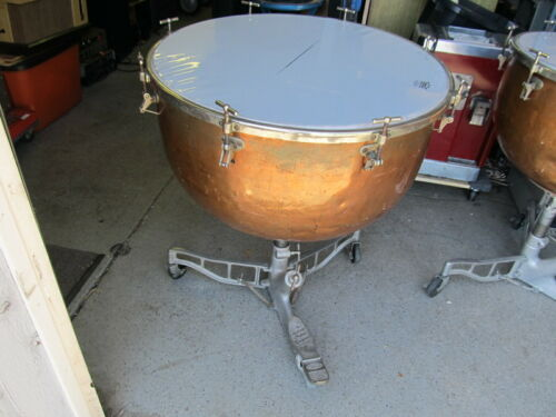 "Vintage LUDWIG 28"" Copper Timpani Drum, ROUGH Condition, PICK UP ONLY INDIANA"