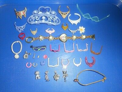 BARBIE AND OTHER DOLL DRESS UP ACCESSORIES- CROWNS SUNGLASSES NECKLACES ETC