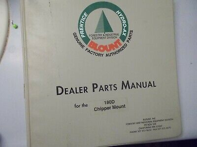 Prentice Hydro Ax 180d Chipper Mount Parts Manual