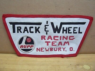 Vintage Rupp Go Kart Track and Wheel Team Racing Jacket Patch Newbury OH for sale  Shipping to Canada