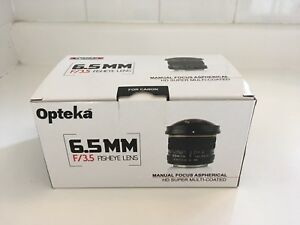 Opteka fish-eye 6.5mm canon like new
