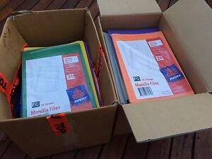 Boxes of manilla folders Strathfield Strathfield Area Preview