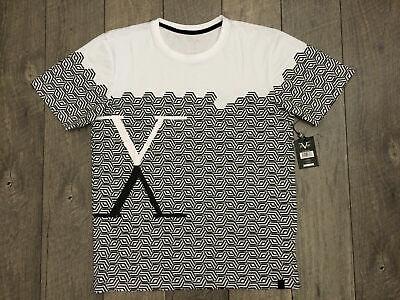 19V69 ITALIA Graphic T-Shirt Mens Size Large Black White Versace.