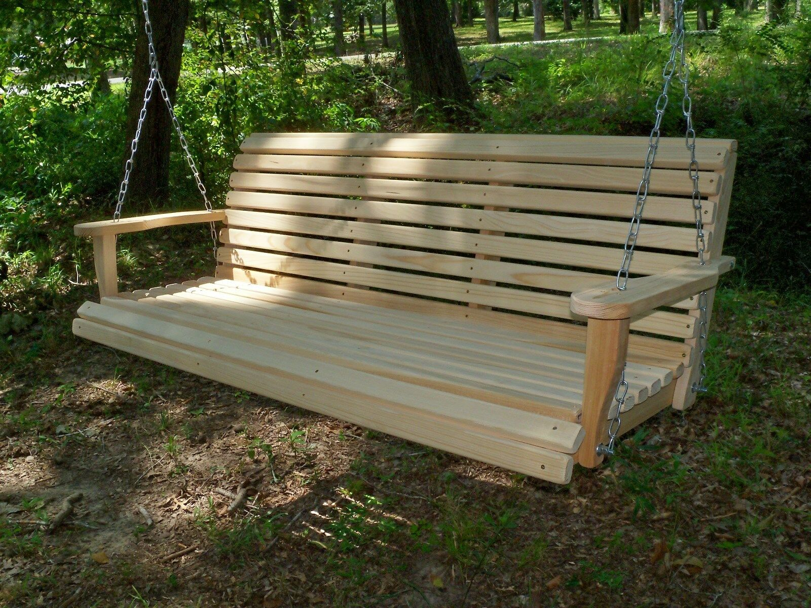 9ft REG Cypress Wood Wooden Porch Bench Swing WITH HANGING HARDWARE Made In  USA
