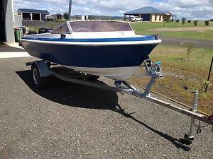 Boat 14ft fibreglass runabout 60 jp outboard Millmerran Toowoomba Surrounds Preview