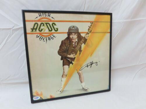 AC/DC High Voltage LP w/ Original Angus Young Autograph - Signed PSA/DNA COA