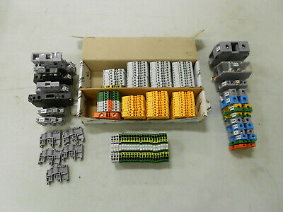 Mixed Lot Of Abb Entrelec New Used End Barriers Fuse Holder Tbs Terminal Bl
