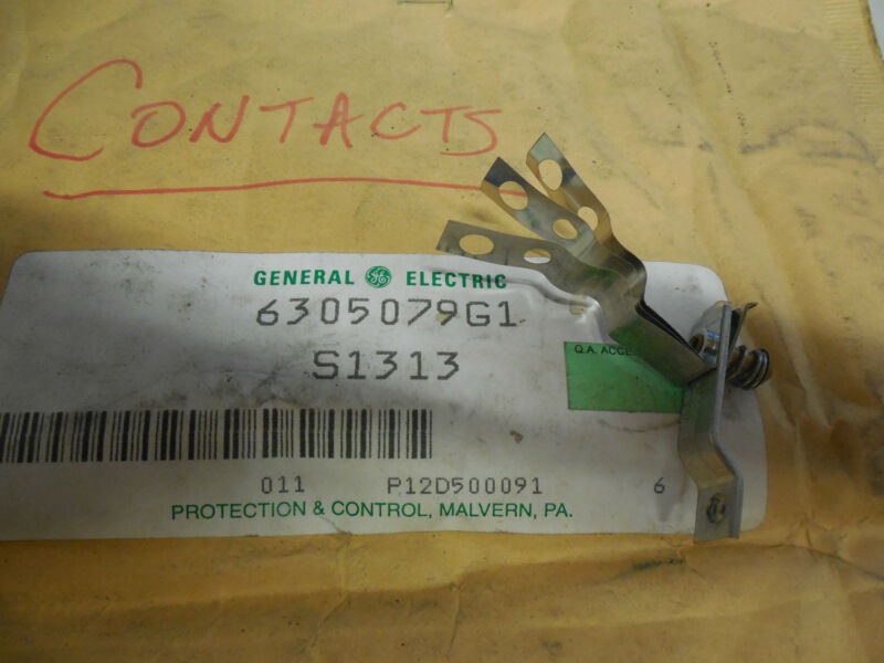 GE GENERAL ELECTRIC CONTACTOR w. FLEXIBLE SHUNT 6305079G1 S1313 NEW