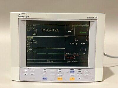 Datascope Passport Xg Patient Monitor Color Ecg Spo2 Nibp Temp Printer