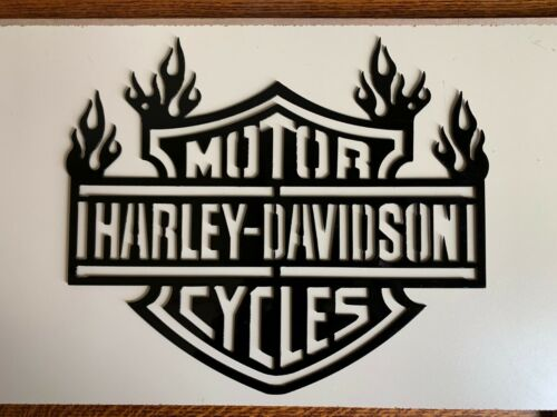 Harley Davidson Flames Metal Wall Art
