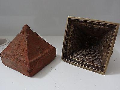 ANTIQUE TIBETAN BUDDHIST CAST BRASS STUPA MOULD