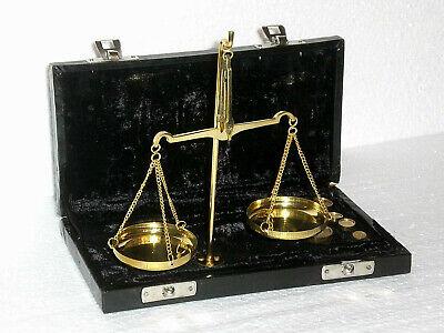 nostalgische Apothekerwaage Goldwaage Waage mit Gewichte von 1mg 10g