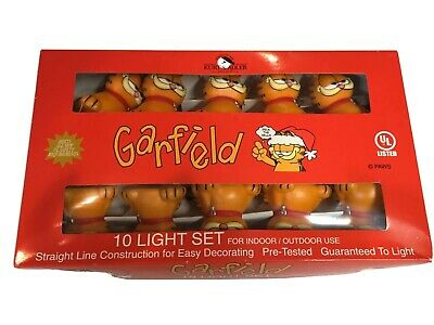 Garfield Indoor Outdoor 10 Light Set Christmas Holiday Decorating Vintage