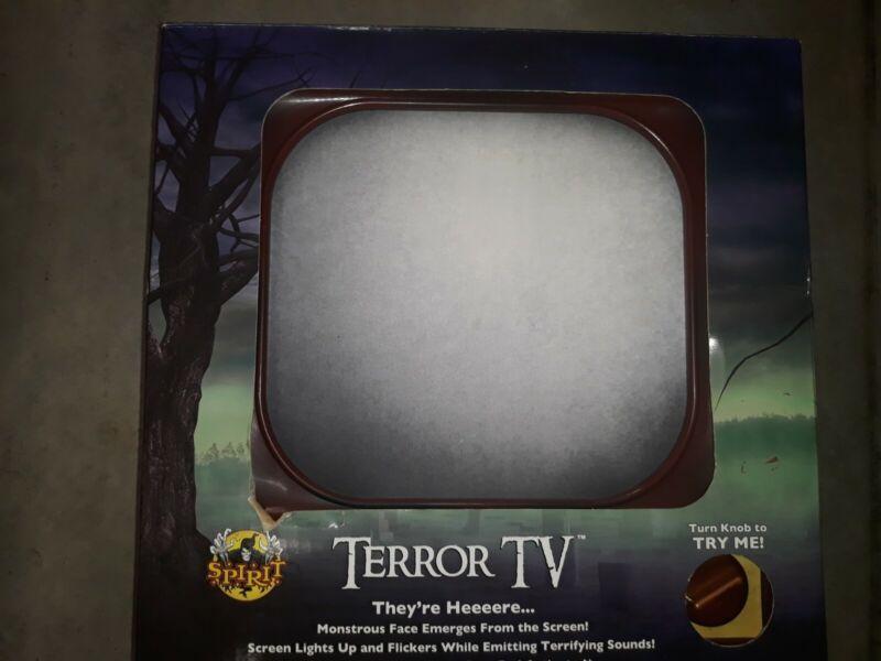 Spirit Halloween TERROR TV Possessed Animated Sound Prop Haunted Vintage NEW