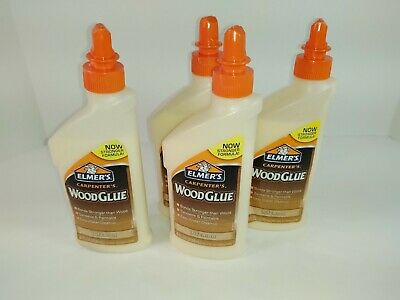 4 8 Oz Bottles Elmers Carpenters Wood Glue Interior New