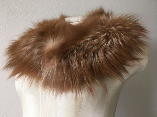 (2) Vintage Fur Soft Thick Coat Collars White Blonde Red Brown Colors
