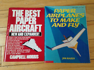 Two paper airplane manuals