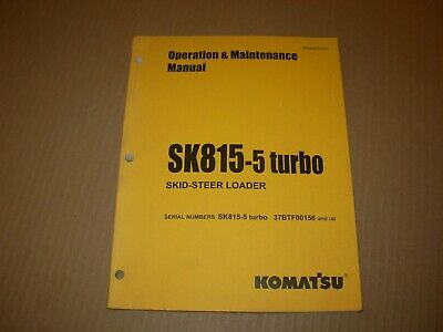 Komatsu Sk815-5 Skid Steer Loader Operation Maintenance Manual 37btf00156 - Up
