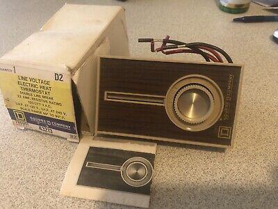 Square D Line Voltage Electric Heat Thermostat D2 120277 Vac 43213