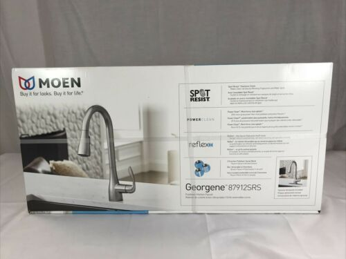 NEW Moen Georgene 87912SRS Stainless Spot Resistant Pulldown Kitchen Faucet