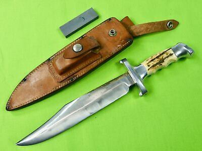 RARE Vintage Custom Handmade R.H. RUANA 30A Bowie Guard Marked Hunting Knife