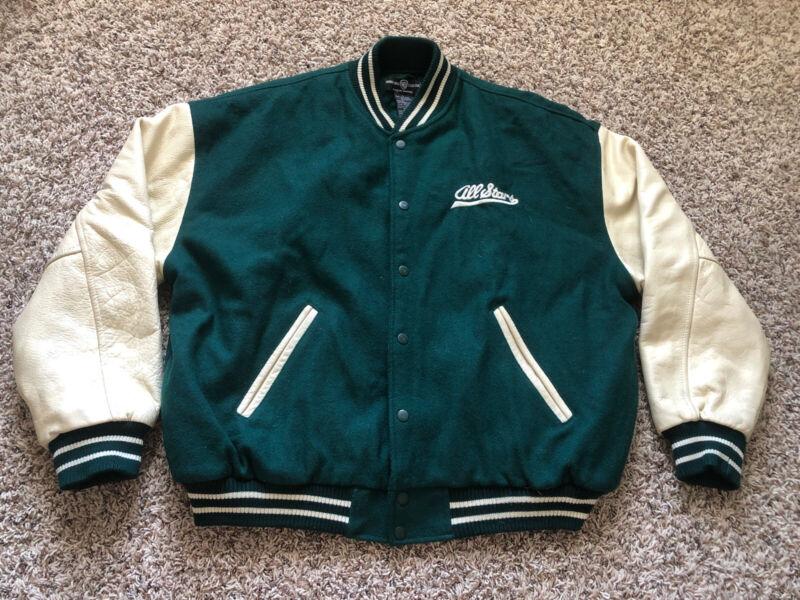 Vintage Warner Bros Fastball Bugs Looney Tunes Letterman Wool Leather Lrg Jacket