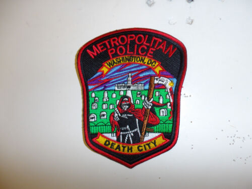 a0174  Washington DC Metropolitan Police Novelty Patch Death City R22A