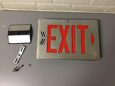 Antique Vtg Lithonia Lighting Art Deco Lighted Exit Sign 12 34 X 8 58