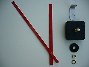High Torque Clock Movement Extra Long Spindle 200mm Red
