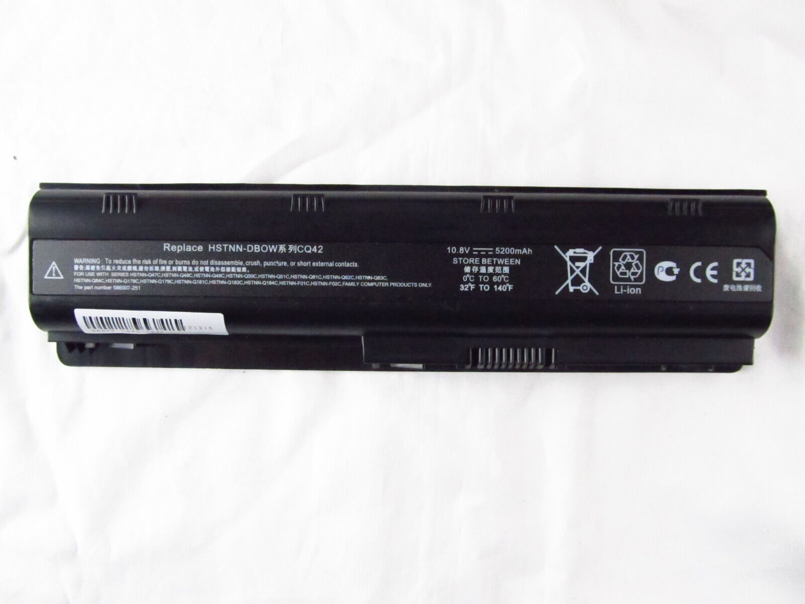 Notebook Battery For Hp 2000-299wm G42-240us G56-100xx G6...