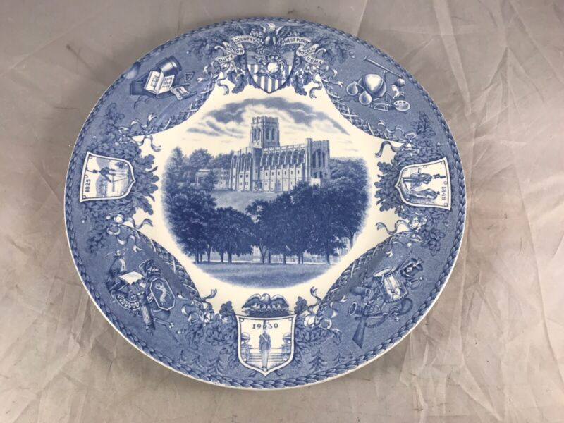 1931 WEDGWOOD U.S.M.A. WEST POINT MILITARY ACADEMY PLATE CADET CHAPEL