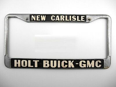 RARE VTG HOLT BUICK GMC DEALER LICENSE PLATE FRAME, NEW CARLISLE, OHIO, CAR AUTO for sale  Shipping to Canada