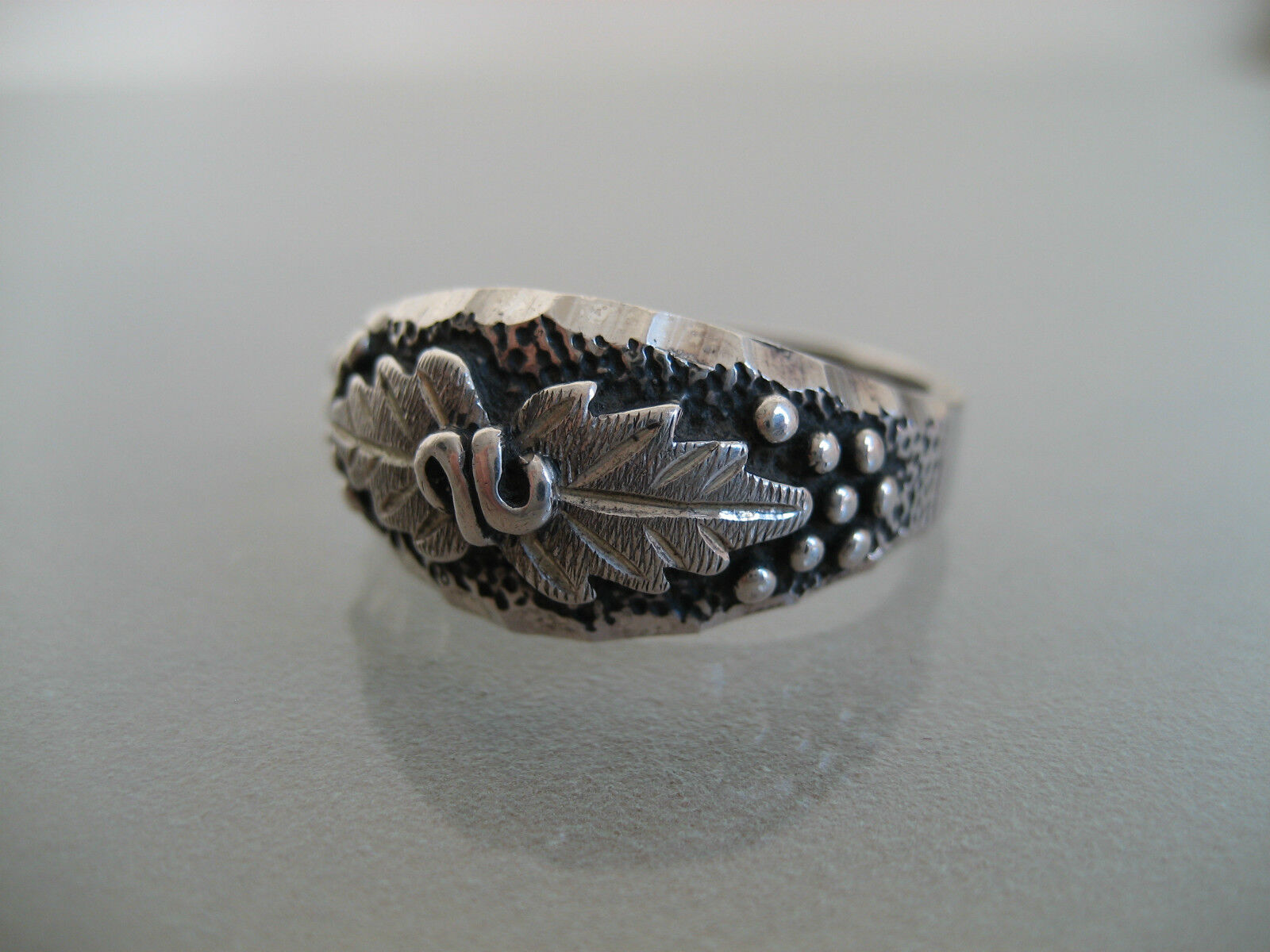 vintage sterling silver unique s ring size 12