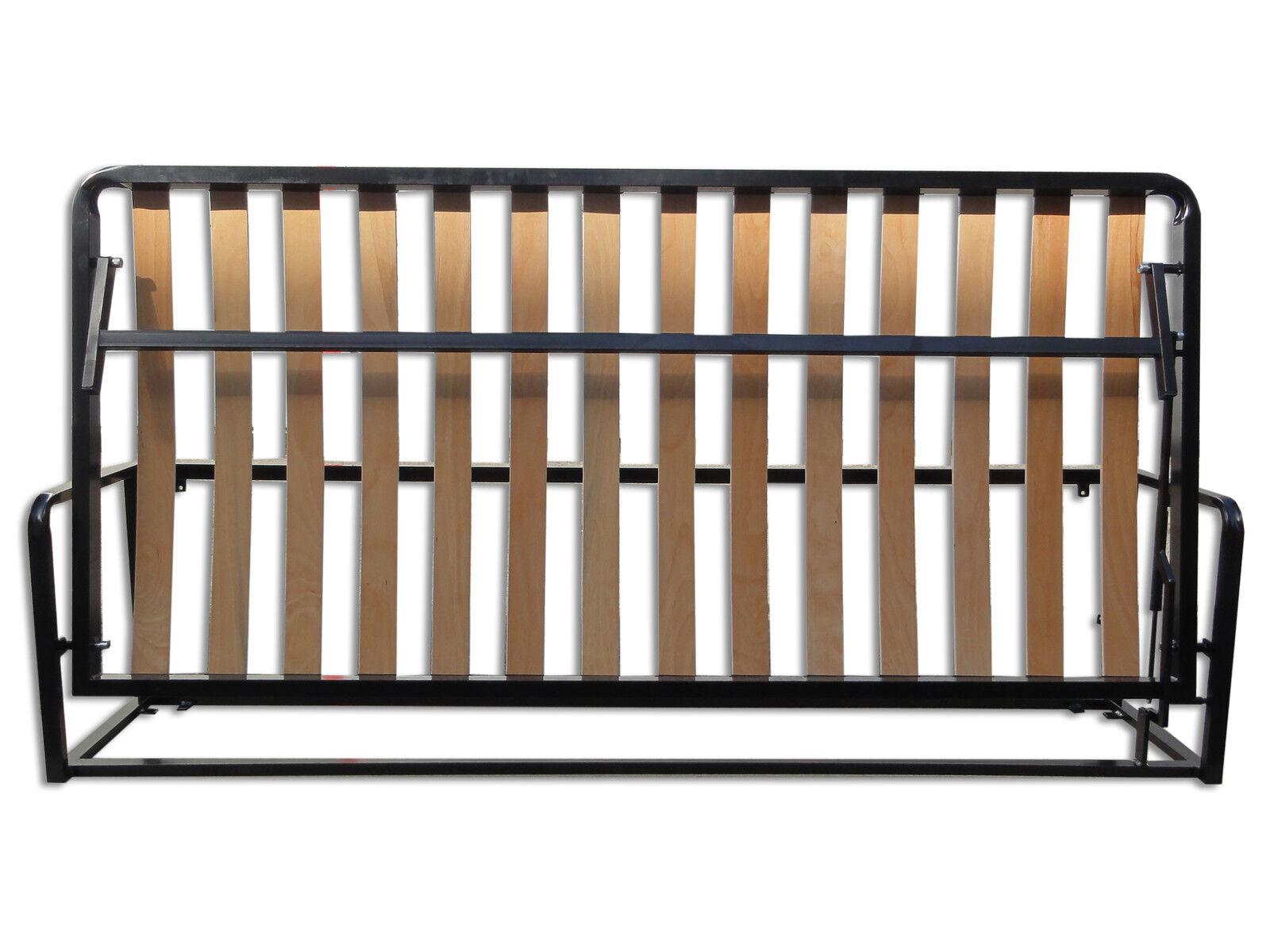 somier cama abatible horizontal cama empotrable horizontal cama plegable 90x200 ebay. Black Bedroom Furniture Sets. Home Design Ideas