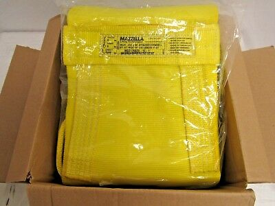 Mazzella Wla1-812 Nylon Attached Eye Web Sling Wide-lift Yellow 20ft.x12in.