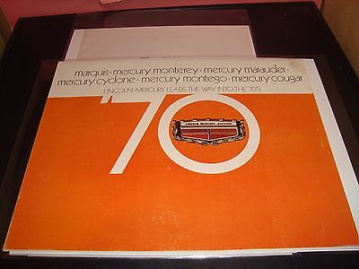 1970 Lincoln Mercury VF Condition Brochure Car Vehicle Cougar / Marquis Cyclone