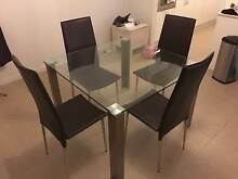 Square glass dinning table plus chairs Harrington Park Camden Area Preview