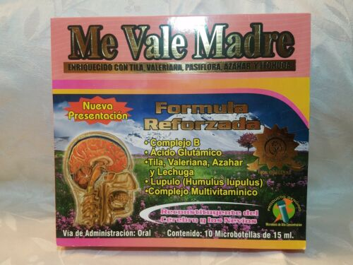 ME VALE MADRE DRINKABLE / BEBIBLE 10 MICRO BOTTLES DE 15 ml/each
