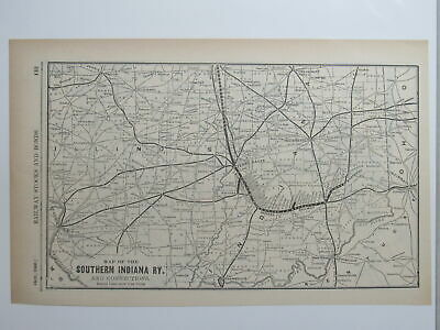 Original map of the Southern Indiana Railway  ~ 1906