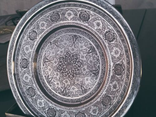 PERSHIAN ART EXHIBITION SOLID SILVER round TRAY BY MASTER OMOUMI