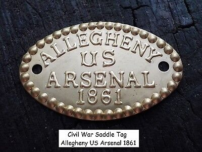 Old Rare Vintage Antique Civil War Relic Allegheny Arsenal Tag Christmas Gift