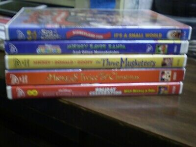 (5) Disney Mickey Mouse DVD Lot: MM Clubhouse (3) Christmas 3 Musketeers & MORE Mickey Mouse Musketeers