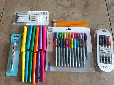 Lot Office School Supplies Highlighters Tul Permanent Markers Gel Pens Pencils