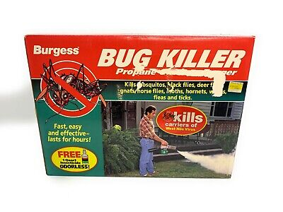 BURGESS 1443 BUG KILLER Propane Mosquito Flies, Gnat Insect Fogger New Old Stock