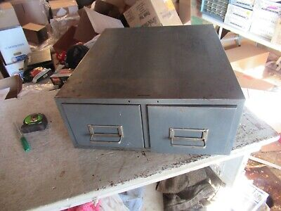 Vintage 2 Drawer Steelmaster Filing Cabinet  Lot 20-89-2
